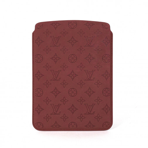 Etui pour Ipad Air en cuir Monogram Perforé rouge