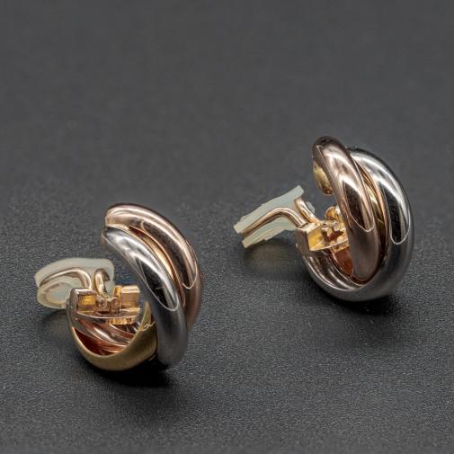 Paire de clips d'oreilles Trinity 3 ors Moyen Modèle