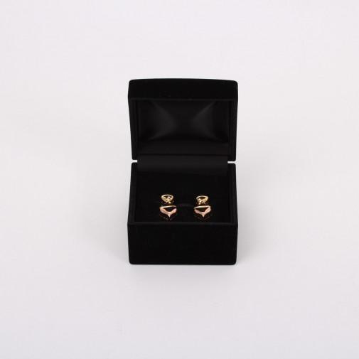 Paire de clips d'oreilles or et diamants