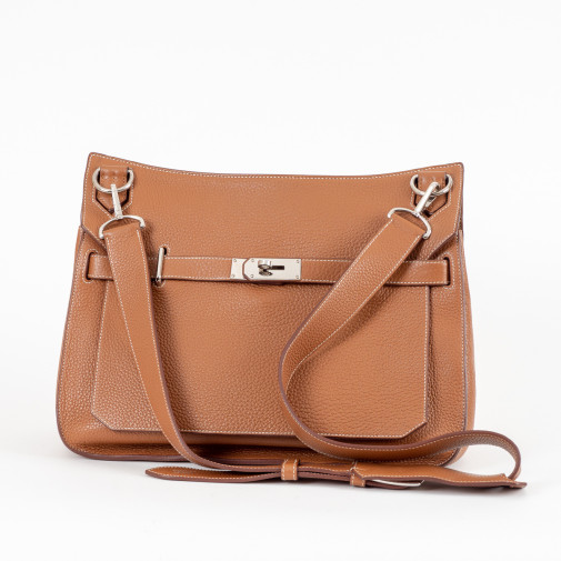 Sac Besace Jypsiere Taurillon Clemence gold Grand Modèle