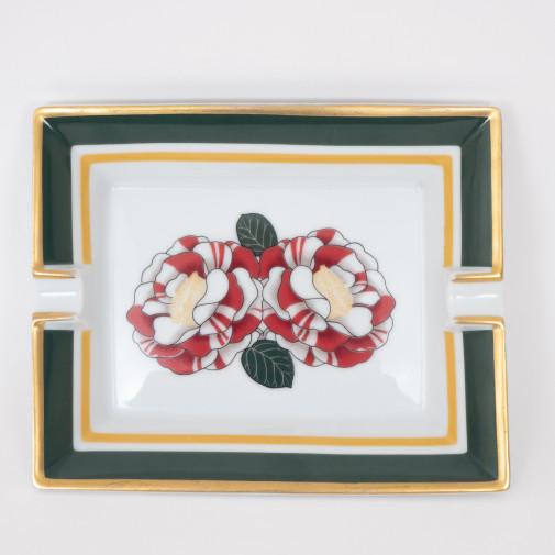 Cendrier Roses G.M. en porcelaine