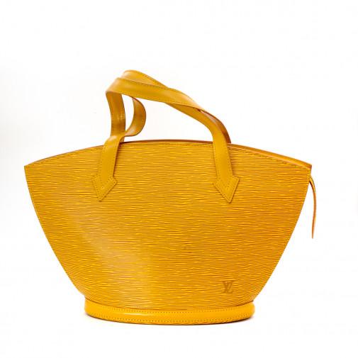 Sac Saint-Jacques en cuir épi jaune Tbilissi