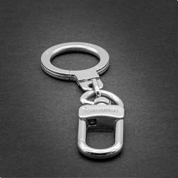 Porte-clés anneau métal argenté