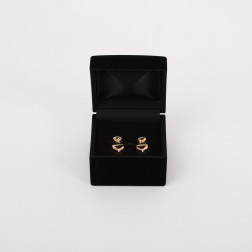 Paire de clips d'oreilles or et diamants