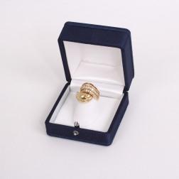 Bague croisée or jaune 18k et diamants