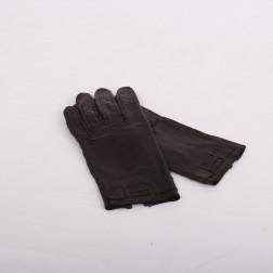Paire de gants cuir d'agneau chocolat Taille 6