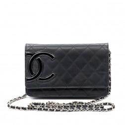 Wallet on Chain Cambon cuir noir.