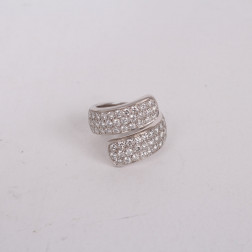 Bague or blanc 18k sertie de diamants