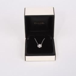 Collier et pendentif Camélia diamant