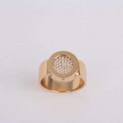 Bague La Ronde or jaune 18k et pavée de diamants