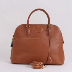 Sac Bolide 37 en cuir Courchevel gold