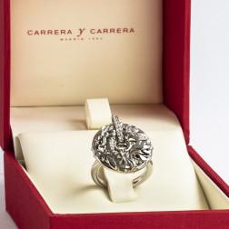 Bague Shanghai or blanc 18k et diamants Ligne Cercle de Feu