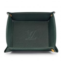 Vide-poches de voyage en cuir Taïga vert épicéa