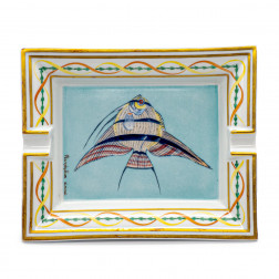 Cendrier Poisson en porcelaine de Limoges