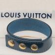 Bracelet commemoratif Euro 2002 en cuir Damier verni bleu.