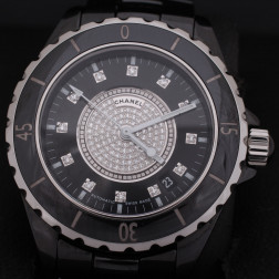 Montre J12 Pavage de diamants