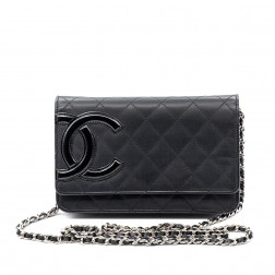 Wallet on Chain Cambon cuir noir.