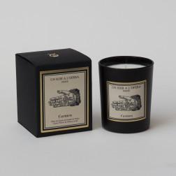 Bougie parfumée CARMEN - Feuilles de Tabac et fleur de Cassie d'après l'Opéra de Bizet. (Vendu par lot de 2 bougies)